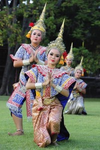 1 time use.Asian culture.Thai dancers