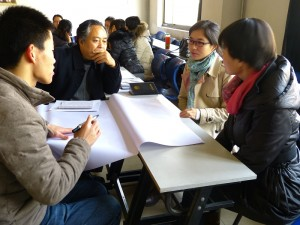 Workshop participants discuss ways to develop practicum sites.