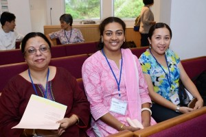 Mentor Bonita Aleaz (left) with two IASACT participants.