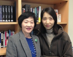Prof. Gui-woo Lee (left) and her colleague, Prof. Min Kayoung.