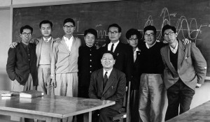 Allan Lee, third from left, with ICU classmates.