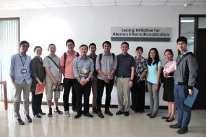 Students and faculty in the Intensive English Language Program.