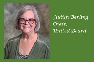 United Board Welcomes Judith Berling as Board Chair